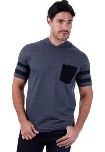 Camiseta Alongada Masculina Metropolitan - Grafite