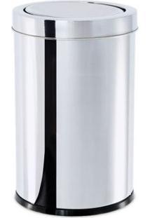 Lixeira Inox Com Tampa Basculante 25X46Cm Brinox