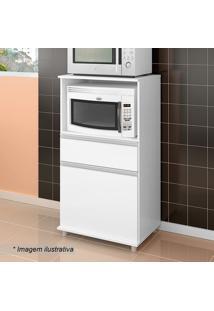 Balcão Para Forno Microondas- Branco- 113X62X42Cmmovel Bento