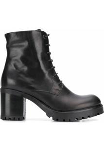 Tosca Blu Ankle Boot Com Cadarço - Preto