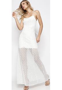 Vestido Longo Anabela - Branco - Le Lis Blancle Lis Blanc