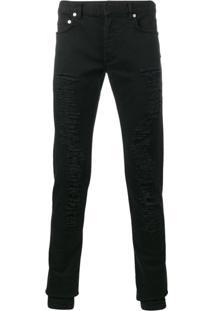 Dior Homme Calça Jeans Slim Fit - Preto