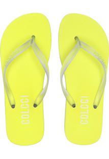 Chinelo Colcci Neon Amarelo