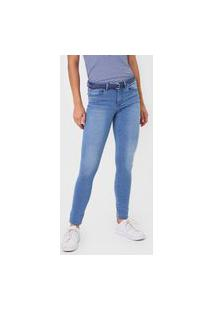Calça Jeans Only Skinny Estonada Azul