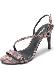 Sandália Dafiti Shoes Cobra Rosa