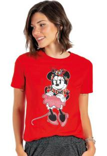 Blusa Feminina Com Lantejoulas Vermelho
