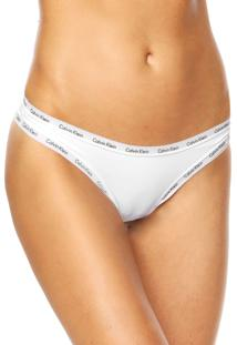 Calcinha Calvin Klein Underwear Tanga Viés Branca