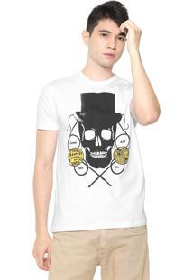 Camiseta Ellus Freaks Branca/Preta