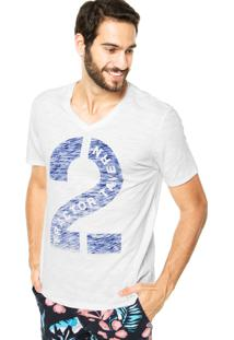 Camiseta Mandi Flamê Branca