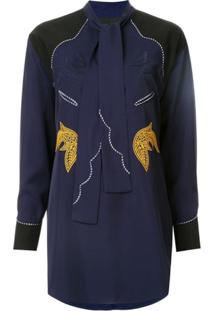 Toga Embroidered Western Blouse - Azul