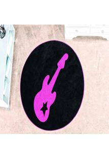 Tapete Dourados Enxovais Formato Guitarra Pink