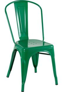 Cadeira Iron Tolix - Metal - Design Industrial - Vintage - Verde Bandeira