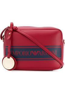 Emporio Armani Bolsa Transversal Com Estampa De Logo - Vermelho