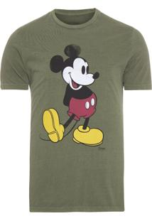 Camiseta Masculina Cotton Vintage Mickey - Verde