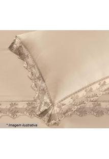 Fronha Cristal Heros Com Renda- Pã©Rola- 70X50Cm-Buettner