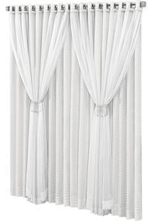 Cortina Fãªnix Sala E Quarto Varã£O Simples 3,00M X 2,70M Branca - Multicolorido - Dafiti