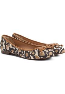 Sapatilha Shoestock Animal Print Feminina - Feminino-Bege