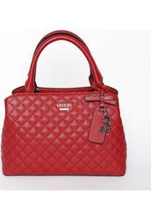 Bolsa Valeria Small Satchel - Vermelha - 19X26X13Cmguess