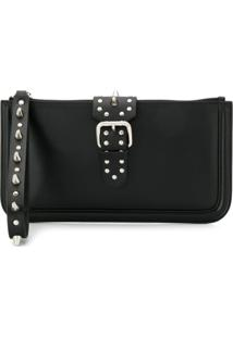 Red Valentino Clutch Red(V) Com Tachas - Preto