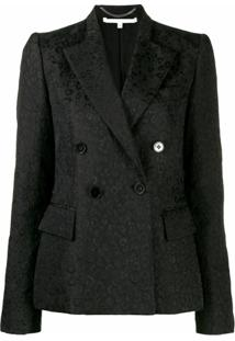 Stella Mccartney Blazer Com Abotoamento Duplo - Preto