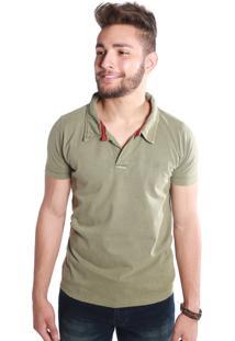 Camisa Polo St Hommes Descolada Verde Militar