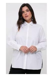 Camisa Lisa Em Tricoline Curve & Plus Size