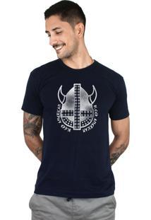 Camiseta Bleed American Vickings Marinho