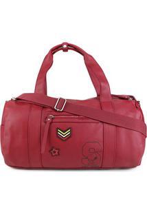 Bolsa Snoopy Barrel Bag Grande Feminina - Feminino-Vermelho