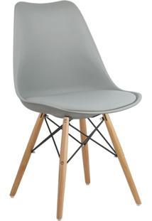 Cadeira Cinza Claro Charles Eames Dsw Soft Wood Em Pp
