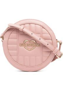Love Moschino Bolsa Transversal Matelassê Com Detalhe De Logo - Rosa