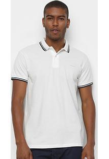 Camisa Polo Colcci Básica Masculina - Masculino-Branco