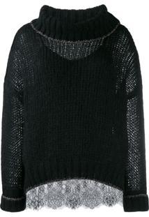 Twin-Set Suéter Oversized - Preto