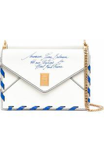 Balmain Envelope Shoulder Bag - Branco