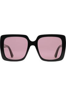 779fd44a35141 Farfetch. Gucci Eyewear Óculos De Sol Retangular - Preto