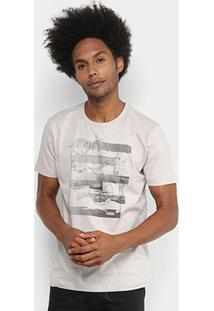 Camiseta Forum Bússola Masculina - Masculino-Bege