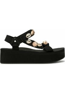 Arizona Love Sandália Flat Trekky Fun - Preto
