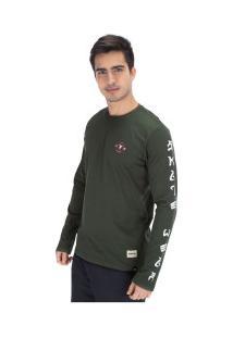 Camiseta Manga Longa Fatal Estampada 18191 - Masculina - Verde Escuro