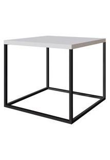 Mesa Centro Cube Branco Aco Preta 0,43 Cm (Alt) - 59058 59058