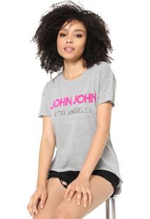 Camiseta John John Lettering Cinza