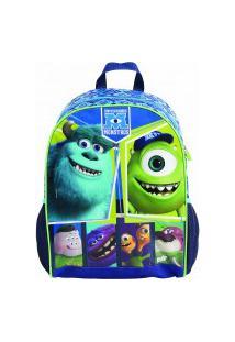 Mochila De Costas Disney Universidade Monstros Grande 37276 Azul/Verde