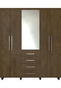 Guarda-Roupa Las Vegas Iii Com 5 Portas E Com Espelho Rv Mã³Veis Marrom - Marrom - Dafiti