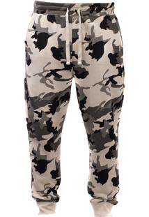Calça De Moletom Blanks Co Camo Snow Bege