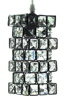 Lustre Pendente Diamante Iluminação Cd4042/1 Transparente Bivolt