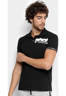 Camisa Polo Piquet Polo Rg 518 Manga Curta Masculina - Masculino-Preto