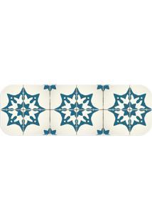 Passadeira Love Decor Wevans Piso Português Azul - Kanui
