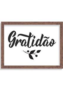 Quadro Decorativo Gratidão Madeira - Grande
