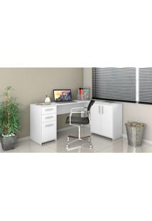 Mesa Office Canto Notavel Branco