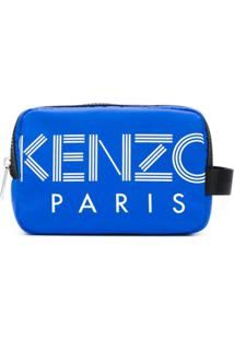 Kenzo Nécessaire De Couro - Azul