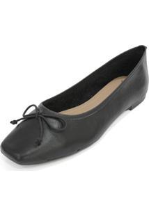 Sapatilha Couro Dali Shoes Bailarina Preto - Preto - Feminino - Dafiti