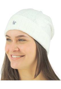 Gorro Feminino Pompom Chelsea Tricô Premium - Feminino-Off White